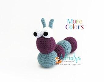 Crochet Caterpillar- Stuffed Caterpillar- Caterpillar Plush- Insect Toys- Bug Toys- Handmade Caterpillar- Crochet Toy- Made to Order