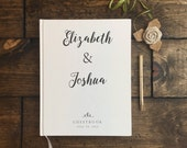 Rustic White Wedding Guest Book. Modern Wedding Guestbook. Custom Wedding Guestbook. Wedding Keepsake. Wedding Book. Wedding Journal.
