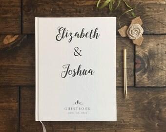 rustic white wedding guest book modern wedding guestbook custom wedding guestbook wedding keepsake