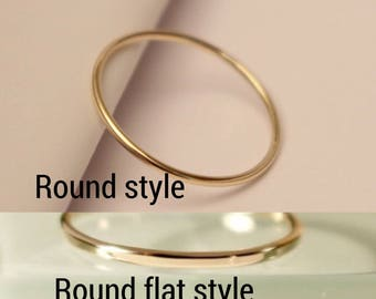 10k Stackable ring, 10k Stack Ring, 10k Skinny Ring, 10k Dainty Ring, 10k Round ring, 10k smooth Ring, 10k Hammered Ring, 10k gold ring