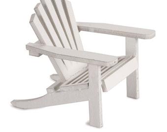Small Beach Fairy Garden Chair - Miniature Adirondack Beach Chair Outdoor Fairy Gardens Beach Wedding Accessory Fairy Chair Small Miniature