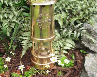 Vintage Miner's Lamp - Valley Craft - Wales - Heavy Brass - Excellent Condition!