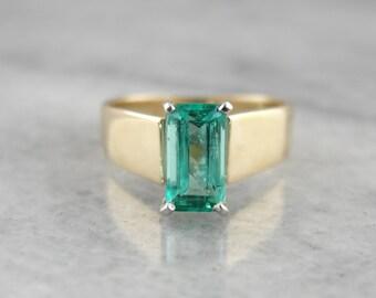 Minimalist Emerald Solitaire Ring 95ZEX0-N