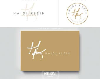 artistic initials logo luxury  branding letters businesscards simple modern gender nutral logo Identity artist makeup wedding photographer