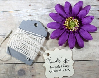 Cream Wedding Gift Tags set of 20 - Personalized Wedding Favor Tags - Ivory Custom Favors - Shower Tags - Cream Bridal Shower - Thank You