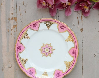 Rare Beautiful Hand-Painted Vintage French Dessert Plate