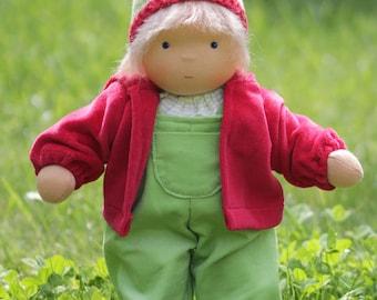 Waldorf inspired doll child/ waldorf doll Tom 14 inch / 35 cm