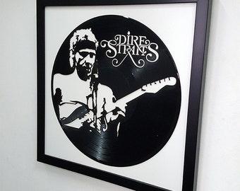 Dire Straits Wall Art - Vinyl LP Record  Framed -Great Rock'n'Roll Gift