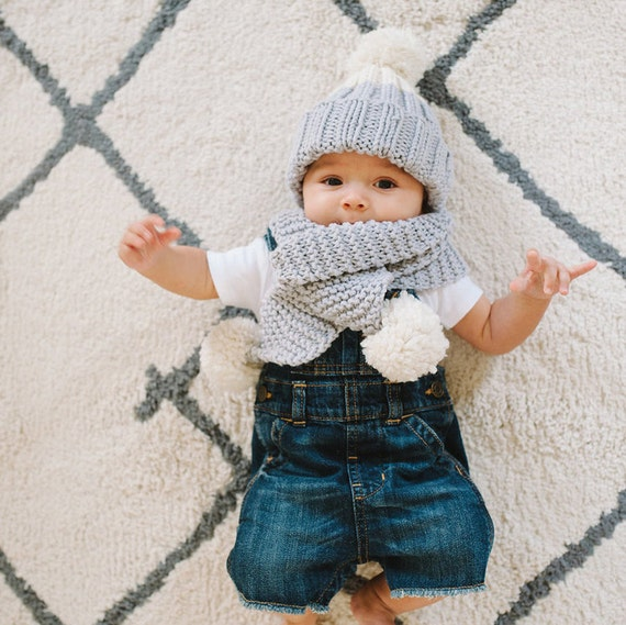 Baby Knitting Kits Uk : Knit your own baby scarf and hat set knitting kit learn to