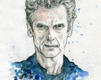 DOCTOR WHO - The 12th Doctor - Peter Capaldi. A4 Art Print (29.7 x 42 cm)