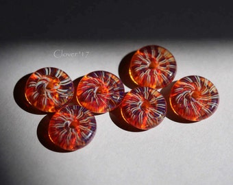 S249 - Nautilus Disc bead set - boro glass, honey, amber ivory