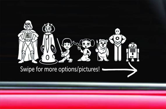 Personalized Star Wars Family Car Decal The Empire - Star wars family car decals