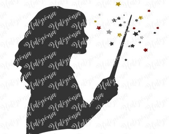 Hermione Granger Wand Silhouette SVG File (Harry Potter)