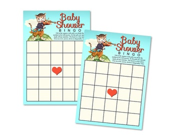 Printable baby shower bingo cards / nursery rhyme / Hey Diddle Diddle / baby shower game / instant download / party game