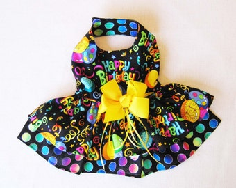 Dog Birthday Dress - Small Dog Dress - Puppy and Small Breeds like Chihuahua, Yorkie, Maltese