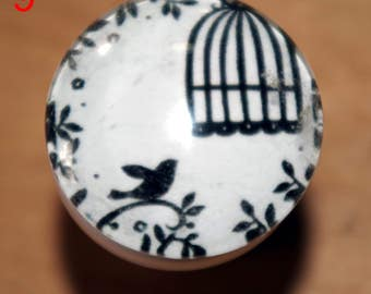 caged bird Dresser knob