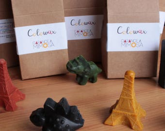 Lot surprise de 6 crayons en cire bio et vegan