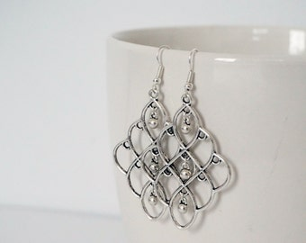 Cluster Silver earrings.