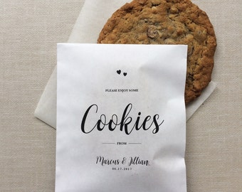 Cookie Favor Bags - Set of 50 - Wedding Paper Bags