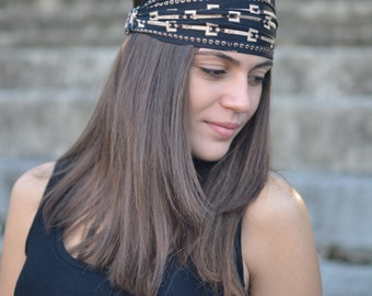 Brown Headband, Cream Headband, Bohemian Headband, Hair Accessories, Womens Accessories, Womens Turban, Womens Headband, Vintage Headbands