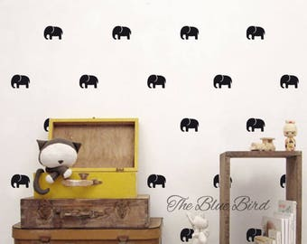 Elephants decal - Elephant wall decal - Confetti animals Decals- Confetti decal - Nursery decor - wall decal confetti - Pattern decal