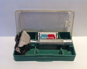 Ever Ready 'Peerless' New Improved 1912 Patent SE Safety Razor & Case. Mens Shaving. Rare Safety Razors. Retro Safety Razor Set.