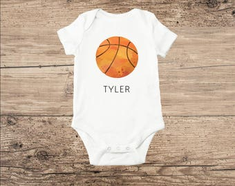 Basketball baby etsy basketball bodysuit basketball baby clothes personalized negle Image collections