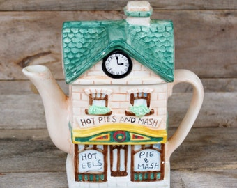Vintage Ceramic Pie Shop Teapot