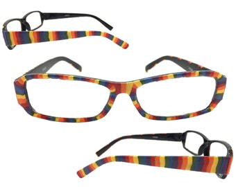 Women's 2.0 Strength Hand Painted Rainbow Reading Glasses
