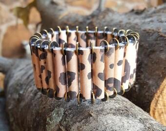 Cheetah Cuff Paper Bracelet