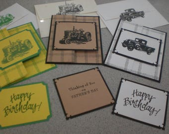 Masculine birthday or Fathers day pick your card