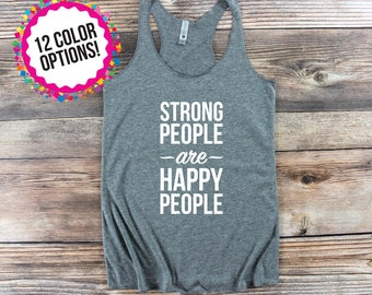 Workout Tank Women/ Womens Fitness Tank/ Crossfit Tank Top/ Womens Graphic Tee/ Strong Shirt/ Yoga Tank Top/ Custom Workout/ Custom Crossfit