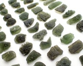 "ONE Moldavite from Czech Republic - appx. 3/4"" - natural genuine authentic green tektite specimen sample raw stone"