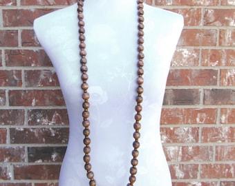 Boho Wrap Necklace,Wrap Necklace Beaded,Long Beaded Wrap Necklace,Extra Long Necklace,Wood Bead Necklace,Long Necklace,Long Boho Necklace