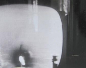 Original 1962 Nasa Space Program Television Snapshot Photo - Captioned Take Off 9:47 AM - Free Shipping