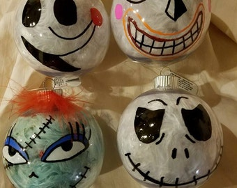 Nightmare Before Christmas multiple Character Ornaments for Tree or Gift set of 4
