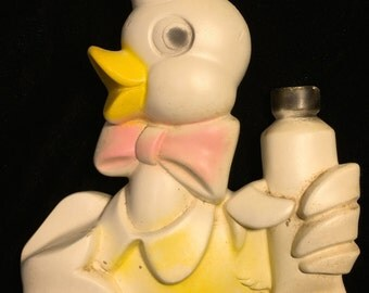 Vintage 50s 60s Sailor Duck Chalk Ware Chalkware Wall Decor Kitsch