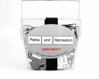 Parks and Recreation Poetry Magnet Set - Refrigerator Poetry Word Magnets - Parks and Rec - Free Gift Wrap