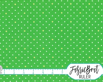 1930's REPRODUCTION Fabric by the Yard Fat Quarter Yellow & Green Dot Fabric 100% Cotton Fabric Quilting Fabric Apparel Fabric Yardage w7-3