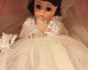 Vintage Madame Alexander Bride doll in box