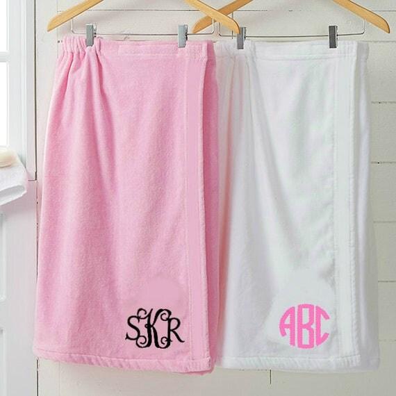 Monogrammed Towel Wrap Personalized Microfiber Terry Bath