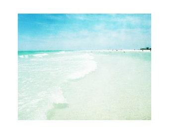 Beach Photography, Florida Art, Siesta Key Art, Beach Art Print, Mint Green Art, Shabby Chic, Boho Chic, Ocean Photos, Sandbar