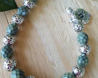 Green Snake Bead Bracelet