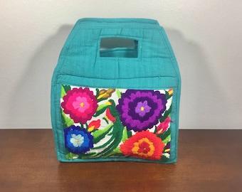 Embroidered Purse, Handbag, Guatemalan Bag, Bag, Green, Purple, Blue, Orange