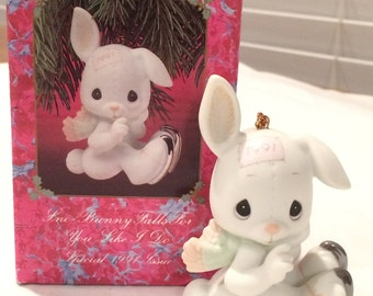 "Precious Moments SNO-BUNNY Falls For You Like I Do  1991"" - ORN - #520438"