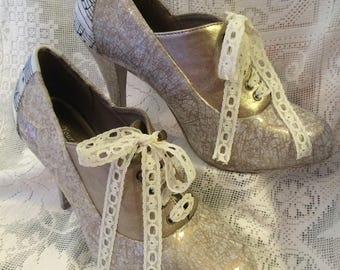 Wedding Shoes MADE TO ORDER Decoupage