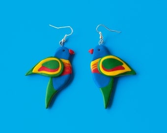 Rainbow Lorikeet Earrings