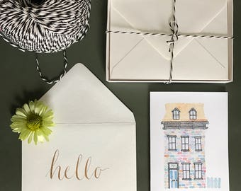 House Stationery Cards - Set of 10