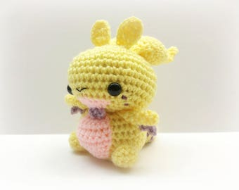 Crochet Goodra Inspired Chibi Pokemon Regular or Shiny