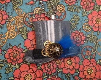 Steampunk top hat brooch